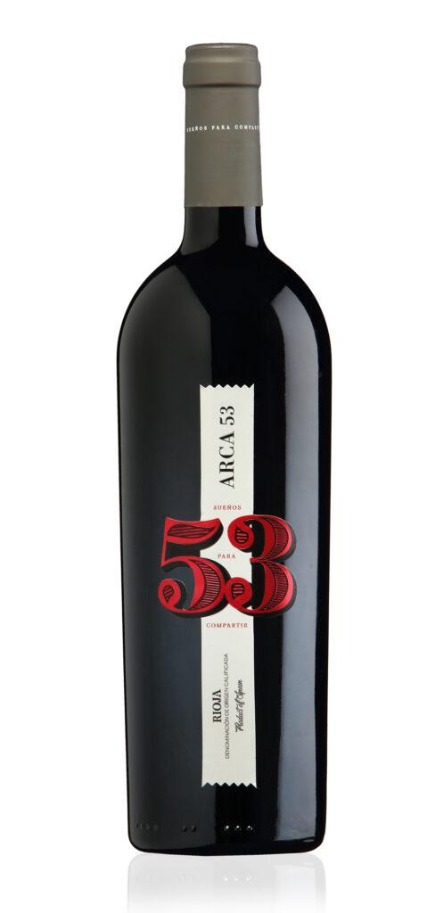 Botella de vino ARCA 53 de Bodega el Arca de Noé en La Rioja