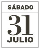 SÁBADO 31 DE JULIO